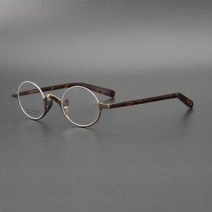 작은 원형 안경테 반무테 상단무테 존레넌 예술가안경