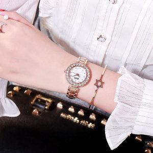 선플라워 큐빅 방수 여성 메탈 패션  팔찌 손목 시계
