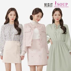 SOUP 본사 봄신상 인기 원피스/니트/코트/스커트