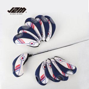 파비온  J2M 골프 투명창 태극기 아이언커버