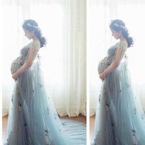 임산부 만삭사진 촬영용 드레스 웨딩드레스