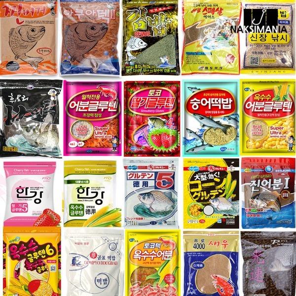 민물떡밥(경원 마루큐 신장 토코 어수라 한강 곰표)