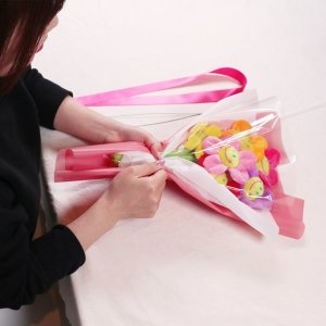 스마일 꽃 인형 꽃다발 DIY 만들기 졸업식 여친 선물