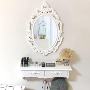 루이송 LED조명 눈꽃 벽걸이화장대 세트 거울 의자
