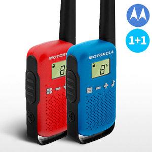 모토로라 생활용무전기T42 2대셋트레드+블루AAA건전지