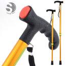 국산 7단 높이조절 고급형 노인 보행 보조지팡이-금색