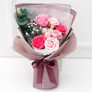 졸업식 꽃다발 재롱잔치사탕부케 사탕꽃다발 블라썸 핑