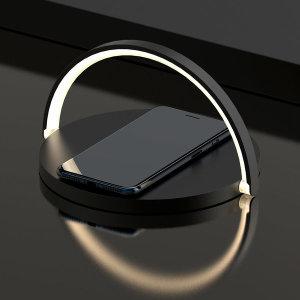 LED Qi10W 무드등 고속 무선충전기 인테리어 블랙