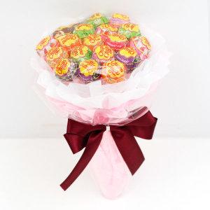 졸업식 재롱잔치 비누꽃다발 츄팝츄스 사탕꽃다발 핑크