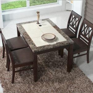 제니스 대리석 4인용 식탁 식탁세트/원목식탁 C1