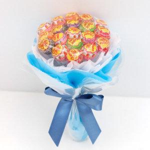 졸업식 재롱잔치 비누꽃다발 츄팝츄스 사탕꽃다발 블루