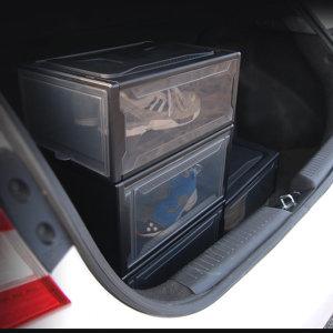 차량용 신발 수납함 투명 정리함