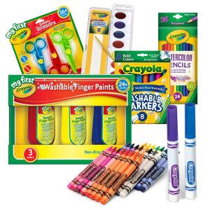 크레욜라 모음 크레파스 핑거페인트 색연필 안전가위