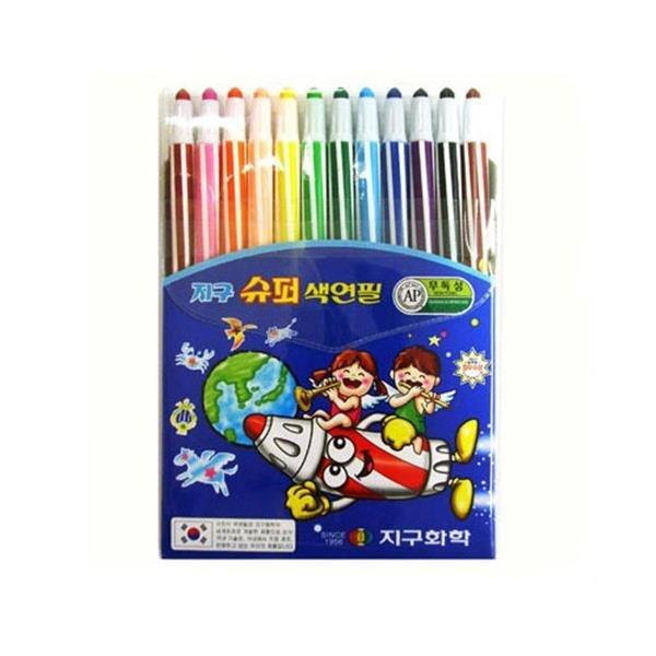지구 3500원 슈퍼 색연필 12색 / 샤프식