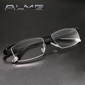 초경량 순수 무독성 티타늄 메탈 반무테 안경테
