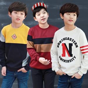 초등학생옷/주니어남아/맨투맨티/주니어의류/단체복