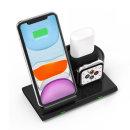 애플워치 에어팟 3in1 무선 충전기 아이폰 블랙
