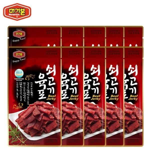 쇠고기육포 25g x10개