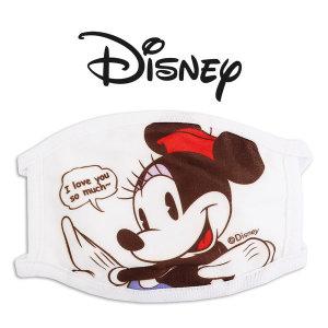 디즈니 미니마우스 여아동 방한대 면 마스크 어린이 1P