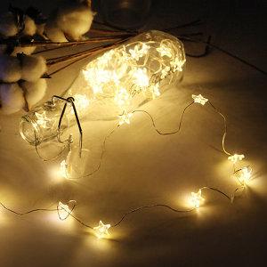 LED 건전지전구 장식 조명 소품 와이어별 40p_웜화이트