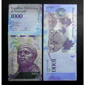 베네수엘라 지폐 2017년 1000볼리바르(unc)