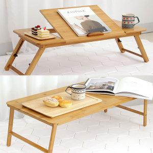 좌식테이블 와이드형 사이드 노트북 접이식 밥상 거실