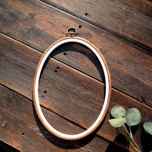 우드마블 타원 후프 20-28cm / 자수 퀼트 수틀액자