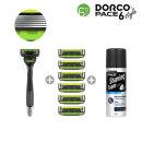 도루코 페이스6스타일 면도기 면도날7개+쉐이빙폼 기획