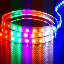 12V 튜브 5050 3칩 LED바 검띠RGB 10cm당 기본연결발송