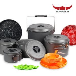 버팔로 코펠 경질 10인용/식기세트 캠핑용품