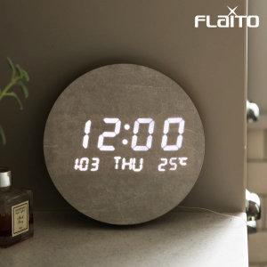 문클락 원형 데이트 LED 벽시계 19.5cm / 포토사은품