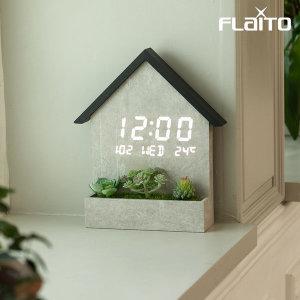 우드 하우스 LED 인테리어 벽시계 / 포토사은품
