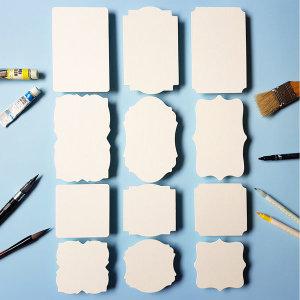 종이타일액자 평량800g 손글씨 손그림 수채 캘리