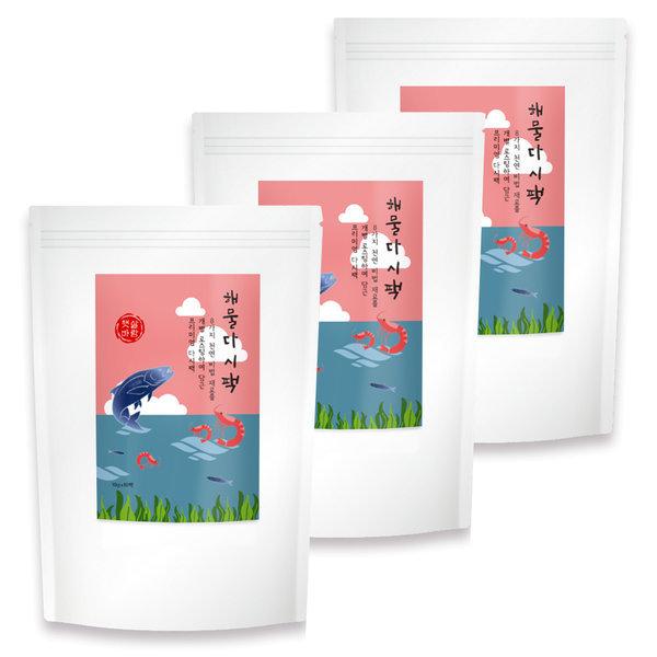 햇살바람 해물다시팩 3봉 (30팩) 멸치 다시마 새우