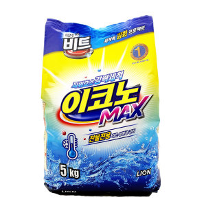 이코노 맥스 5kg 찬물전용 파워효소 강력세척세제