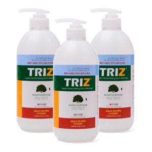 TRIZ 트리즈 피톤치드 손소독제 500ml 겔타입 3개묶음