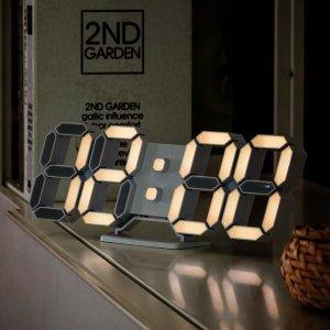 3D LED 미니 시즌3 탁상 벽시계 LG전구 25cm 화이트