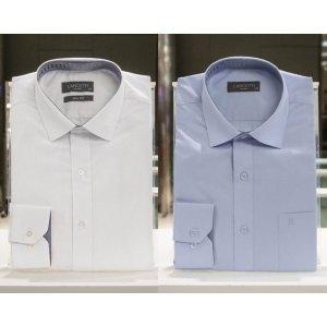 (신세계의정부점)비즈니스캐주얼 남성슬림핏 긴소매 와이셔츠 2종택1(LZRTC70WH/70BL)
