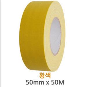 무광 면테이프 황색 폭50mm 길이50M 낱개