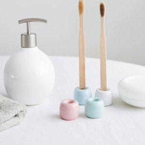 도자기칫솔꽂이 칫솔홀더 칫솔스탠드 욕실용품 1+1