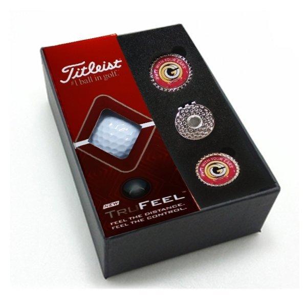 타이틀리스트 트루필 3구 볼마커 홀인원 골프선물세트