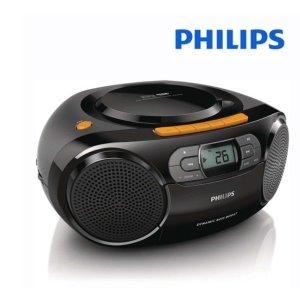 필립스 AZ-388 휴대용 오디오 카세트 라디오 CD USB
