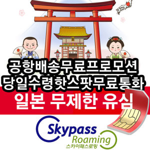 일본유심칩 lte 무제한 데이터 3일 4일 핫스팟 심카드