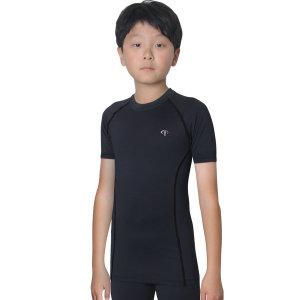 아동 기능성 반팔티셔츠 주니어운동복 아동스판티셔츠