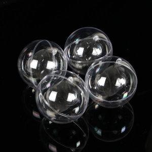 투명 플라스틱볼 4p세트/ 10cm 아크릴구 투명캡슐