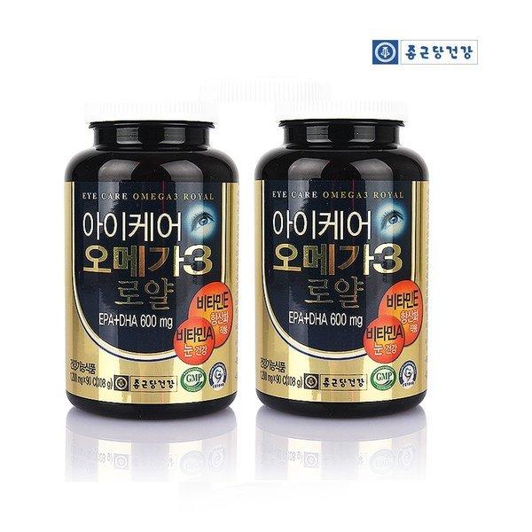종근당건강 아이케어 오메가3 로얄 2병 6개월분
