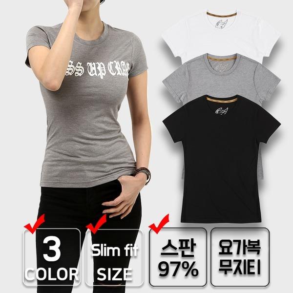 끄라몽 슬림핏 티셔츠/요가복/필라테스복/헬스/여성