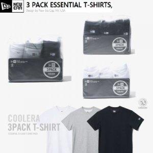 뉴에라 무지 에센셜 반팔 티셔츠 3팩 3종 모음 11929735 11929734 11929737