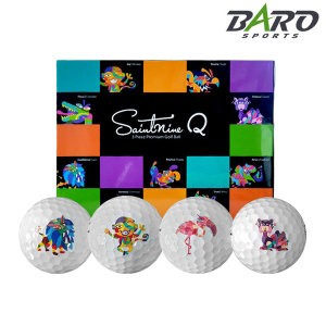 골프공 12구세트 모음전-세인트나인Q 3피스 화이트볼