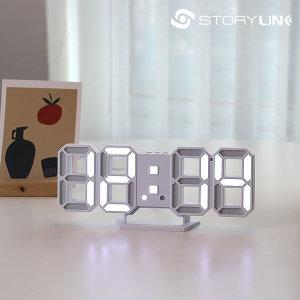 탁상시계 알람시계 LED 디지털 무소음 전자 인테리어